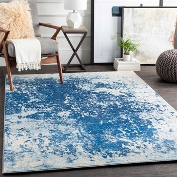 Surya Aberdine Bright Blue / Pale Navy Cream Rectangular Area Rug