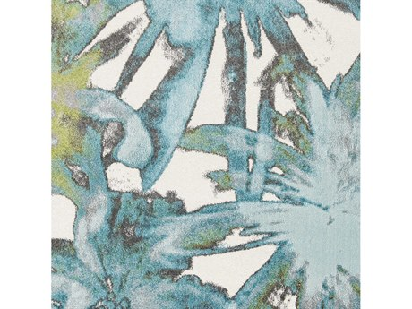 Surya Aberdine Aqua / Teal Olive Ivory Charcoal Medium Gray Square Sample