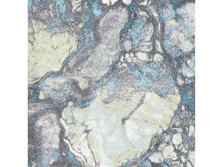 Surya Aberdine Aqua / Teal Olive Medium Gray Charcoal Square Sample
