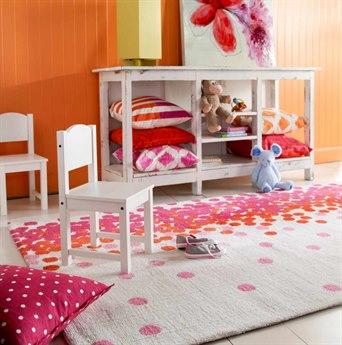Surya Abigail Rectangular Bright Pink, Bright Orange & Cream Area Rug SYABI9051REC