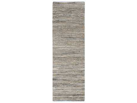 Surya Adobe 2'6'' x 8' Rectangular Taupe, Bright Blue & Denim Runner Rug