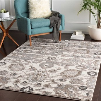 Surya Agra Camel / Taupe Medium Gray Charcoal White Rectangular Area Rug