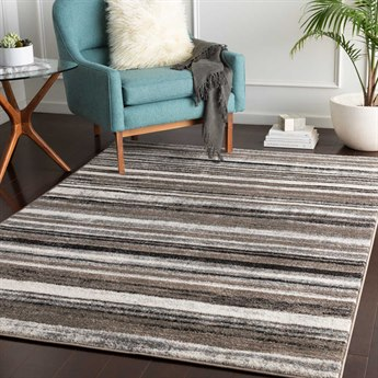 Surya Agra Camel / Taupe Denim Black Charcoal Medium Gray White Rectangular Area Rug