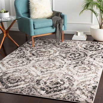 Surya Agra Camel / Taupe Black Charcoal White Rectangular Area Rug