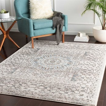 Surya Agra Camel / Taupe Denim Medium Gray White Rectangular Area Rug