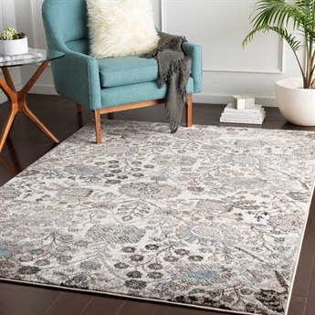 Surya Agra Taupe / Camel Denim Medium Gray Charcoal White Black Rectangular Area Rug