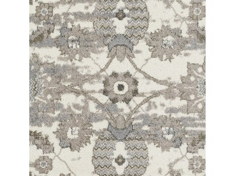 Surya Agra Camel / Taupe Medium Gray Charcoal White Square Area Rug