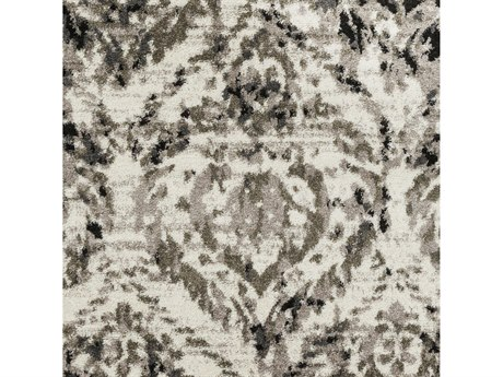 Surya Agra Camel / Taupe Black Charcoal White Square Sample