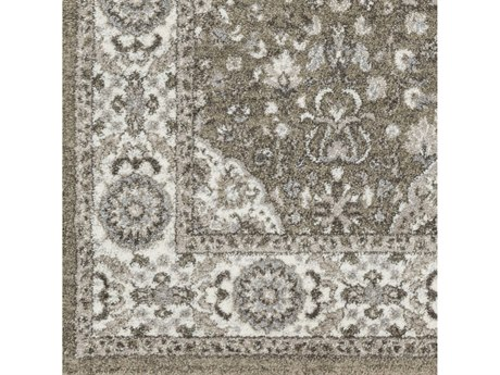 Surya Agra Camel / Taupe Medium Gray Charcoal White Square Sample