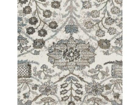 Surya Agra Taupe / Camel Denim Medium Gray Charcoal White Black Square Sample