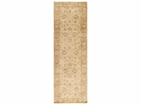 Surya Ainsley 2'6'' x 8' Rectangular Beige, Pale Blue & Wheat Runner Rug