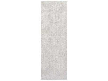 Surya Aisha Light Gray / White Runner Area Rug