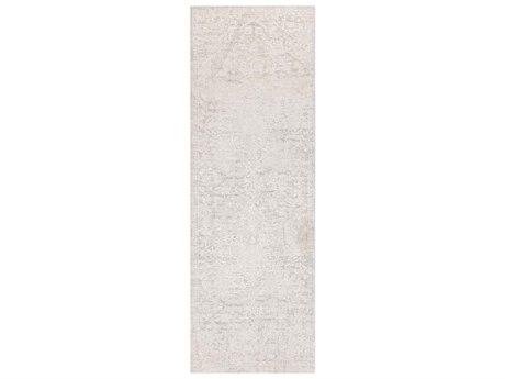 Surya Aisha Medium Gray / White Runner Area Rug