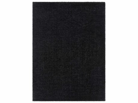 Surya Alaska Shag Black Rectangular Area Rug