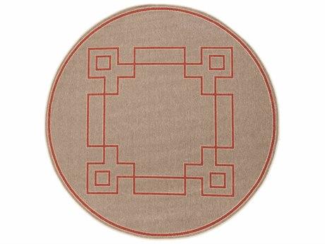 Surya Alfresco Round Rust, Camel & Cream Area Rug