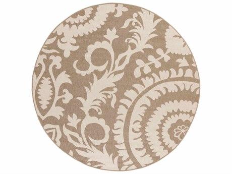 Surya Alfresco Round Camel & Cream Area Rug