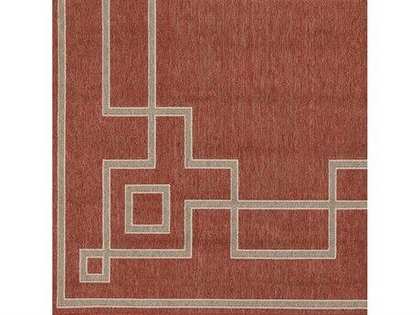 Surya Alfresco Rust / Camel Cream Square Sample