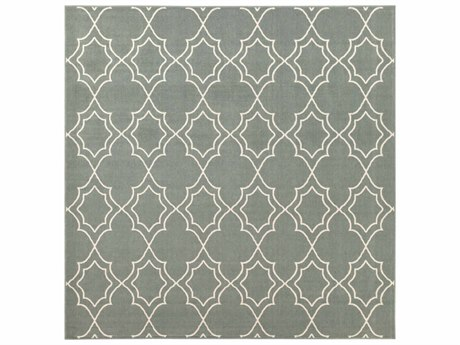 Surya Alfresco Square Sage & Cream Area Rug