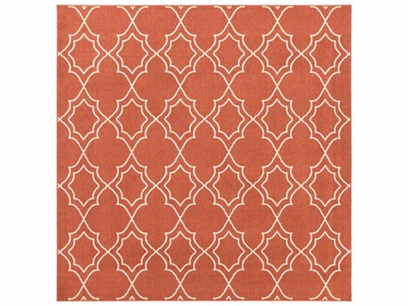 Surya Alfresco Square Rust & Khaki Area Rug