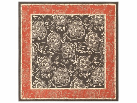Surya Alfresco Square Black, Rust & Cream Area Rug