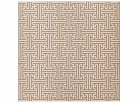 Surya Alfresco Square Camel & Cream Area Rug