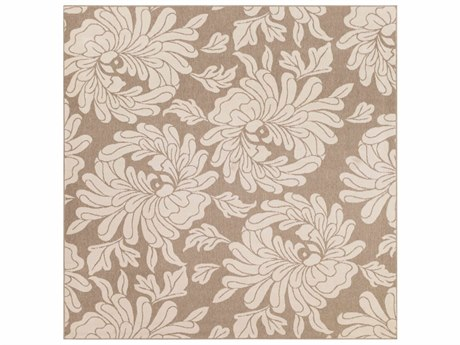 Surya Alfresco Square Cream & Camel Area Rug