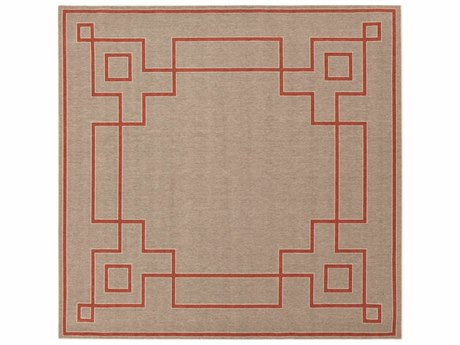 Surya Alfresco Square Rust, Camel & Cream Area Rug