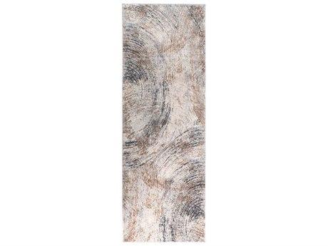 Surya Alpine Charcoal / Camel Ivory Medium Gray Light Runner Area Rug