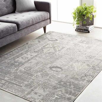 Surya Amadeo Rectangular Silver Gray, Medium Gray & White Area Rug SYADO1001REC