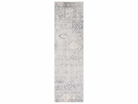 Surya Amadeo 2'3'' x 7'10'' Rectangular Silver Gray, Medium Gray & White Runner Rug