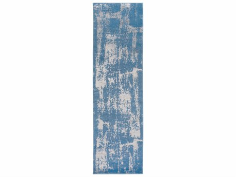 Surya Amadeo 2'3'' x 7'10'' Rectangular Denim & Medium Gray Runner Rug