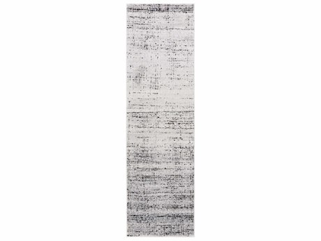 Surya Amadeo 2'3'' x 7'10'' Rectangular Light Gray, Charcoal & Black Runner Rug