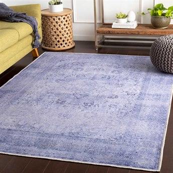 Surya Amelie Lavender / Dark Blue Denim Rectangular Area Rug