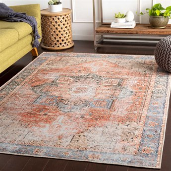 Surya Amelie Rose / Denim Butter Beige Dark Green Olive Clay Rectangular Area Rug