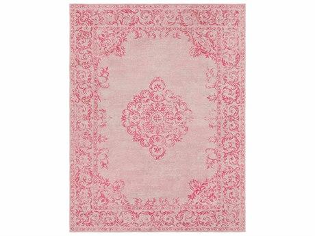 Surya Amsterdam Bright Pink / Blush Ivory Rectangular Area Rug