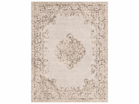 Surya Amsterdam Beige / Light Gray Tan Dark Brown Rectangular Area Rug