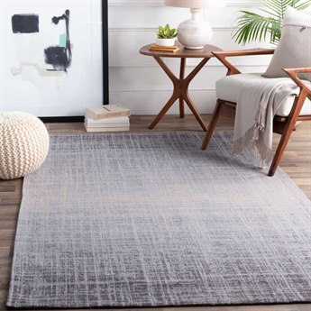 Surya Amsterdam Medium Gray / Silver Beige Charcoal Rectangular Area Rug