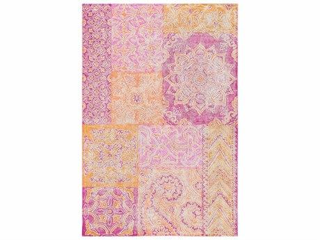 Surya Antigua Bright Pink / Orange Cream Rectangular Area Rug