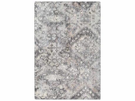 Surya Antigua Charcoal / Medium Gray Light Cream Taupe Rectangular Area Rug