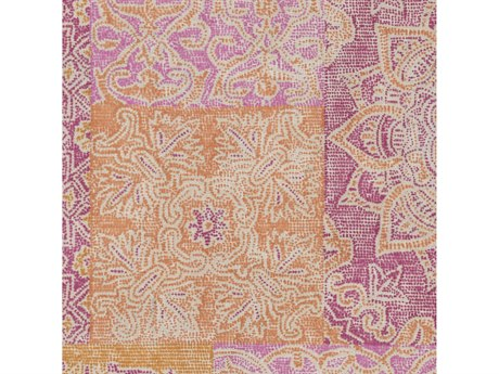 Surya Antigua Bright Pink / Orange Cream Square Sample