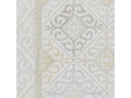 Surya Antigua Taupe / Sage / Olive / Ice Blue Square Sample