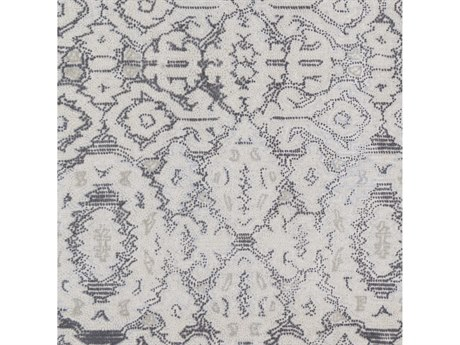 Surya Antigua Charcoal / Cream Pale Blue Square Sample
