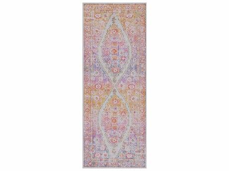 Surya Antioch Lavender / Violet Saffron Light Gray Medium Bright Pink Runner Area Rug