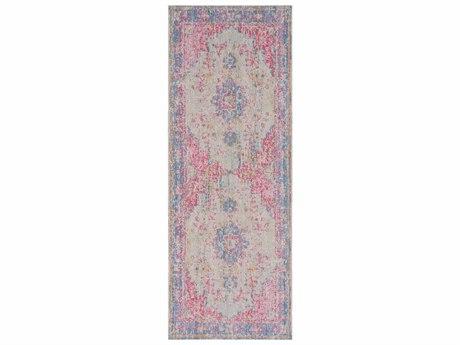 Surya Antioch Violet / Bright Pink Garnet Medium Gray Lavender Yellow Sea Foam Runner Area Rug
