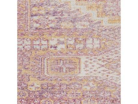 Surya Antioch Bright Pink / Yellow Garnet Lavender White Sea Foam Square Sample