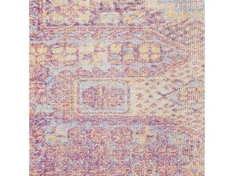 Surya Antioch Garnet / Bright Pink Yellow Sea Foam Saffron White Lavender Square Sample