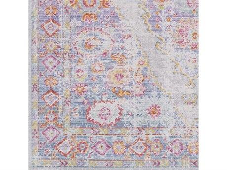 Surya Antioch Lavender / Violet Saffron Light Gray Medium Bright Pink Square Sample