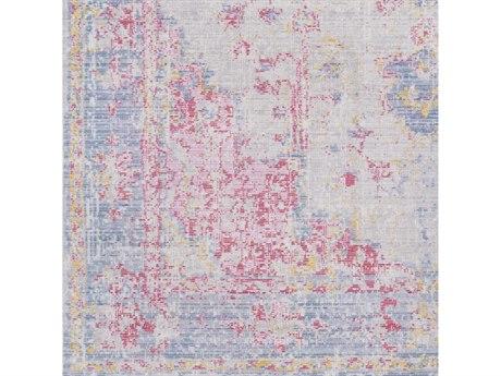 Surya Antioch Violet / Bright Pink Garnet Medium Gray Lavender Yellow Sea Foam Square Sample