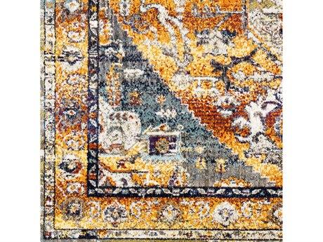 Surya Ararat Bright Orange / Yellow / Dark Red / Charcoal Square Sample