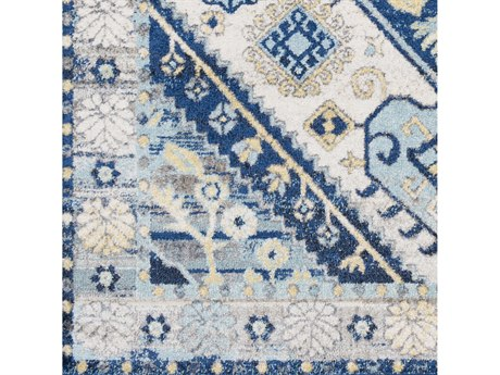Surya Ararat Dark Blue / Aqua Charcoal Navy Square Sample